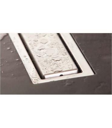 griglia canale di scarico filo pavimento doccia 75 cm  sistema di drenaggio in acciaio inox