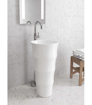 Lavabo a colonna louvre freestanding da terra appoggio centro stanza totem in ceramica ap shop online