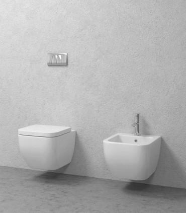 coppia sanitari bagno sospesi scarico a parete legend vaso bidet copriwater ap shop online
