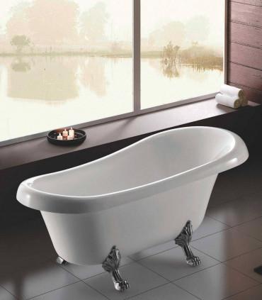 vasca in ceramica 165 cm ovale retro' vintage bianca centro stanza freestanding ap shop online Ap Shop.jpg