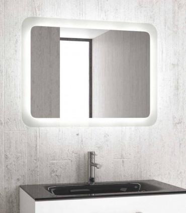 specchio bagno retroilluminato luce led rettangolare struttura in vetro 80x100 ap shop online