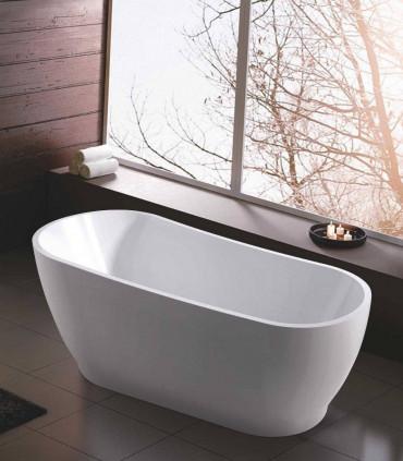 vasca in ceramica in acrilico 170 cm bianca centro stanza freestanding posizionamento libero atena ap shop online