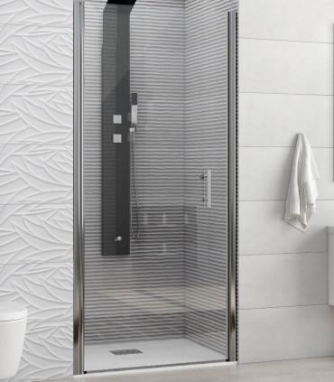 porta doccia battente nicchia in cristallo 6 mm temperato trasparente profilo cromo misura 75 cm ap shop online
