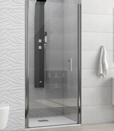 porta doccia battente nicchia in cristallo 6 mm temperato trasparente profilo cromo misura 80 cm ap shop online