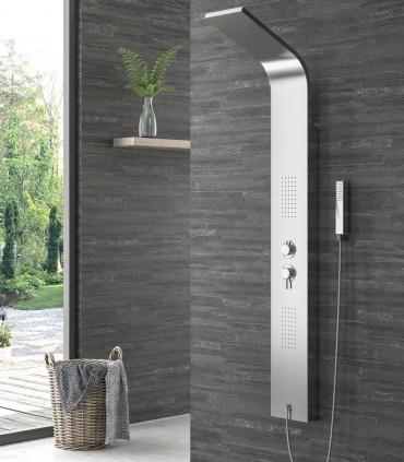 colonna idromassaggio Pannello doccia Elea in ACCIAIO INOX 18/10 aisi 304 con getti idromassaggio selettore ap shop online