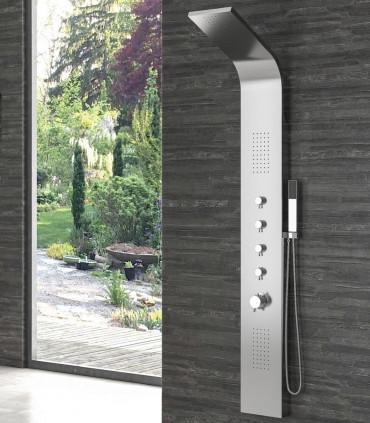 Pannello doccia Grande Elea in acciaio inox 18/10 aisi 304 con getti idromassaggio ap shop online
