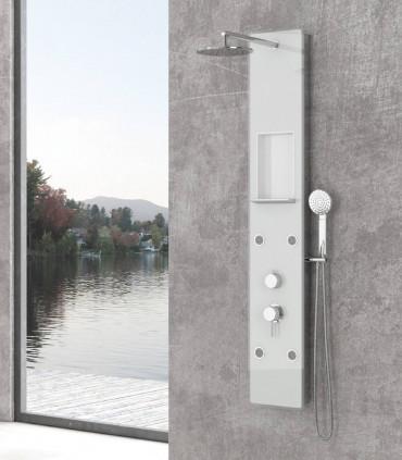 Colonna Idromassaggio Pannello doccia clio 4 getti in vetro bianco temperato ap shop online