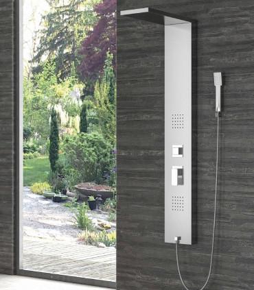 Colonna doccia idromassagio pannello erato in acciaio inossidabile 304 getto in idro selettore 3 funzioni ap shop online