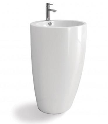 Lavabo da bagno a colonna posizionamento libero freestanding centro stanza in ceramica ap shop online
