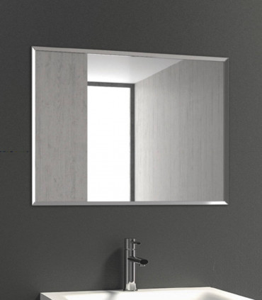 specchio fililucido semplice con cornice in acciaio inox rettangolare reversibile 600x800X20