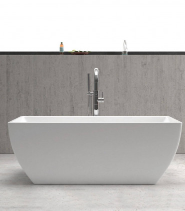 vasca da bagno acrilico bianca 150 cm centro stanza freestanding moderna piccola ap shop online