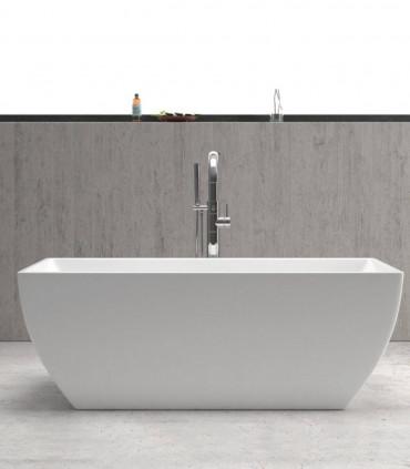 vasca da bagno acrilico bianca 170 cm centro stanza freestanding moderna piccola ap shop online