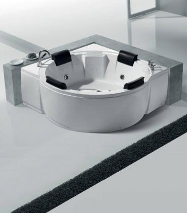 vasca da bagno idromassaggio 165 cm 4 quattro posti in acrilico tonda posizionamento ad angolo libera ap shop online